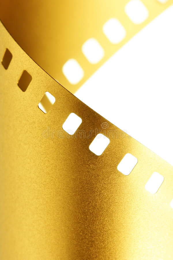 Free Gold 35 Mm Film Macro Stock Photography - 6287862