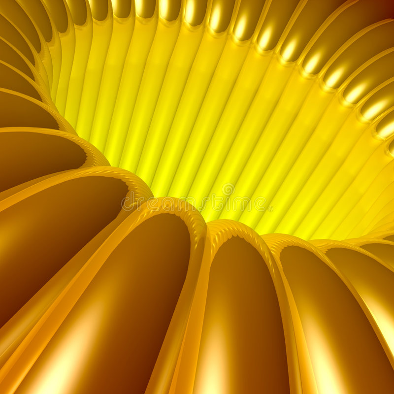 Gold 3d Tunnel