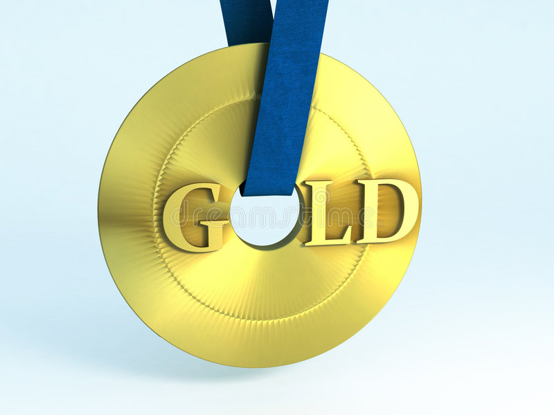 Download Gold stock illustration. Image of contest, first, competitor - 6157538