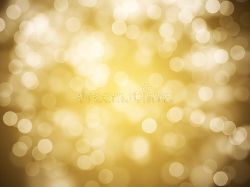 Gold abstract background. With bokeh defocused lights royalty free stock images