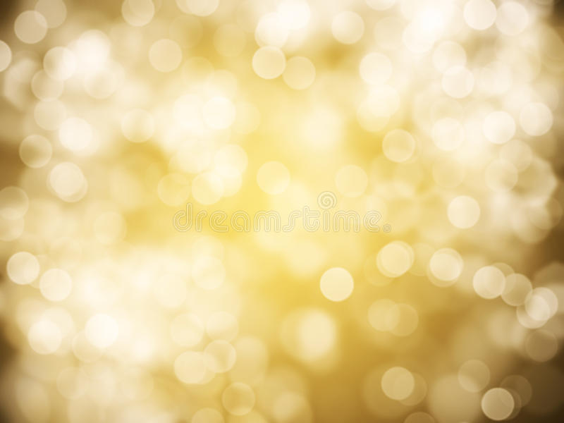 Gold abstract background. With bokeh defocused lights stock photography
