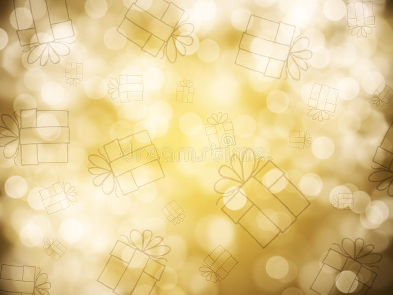 Gold abstract background. With bokeh defocused lights stock photo