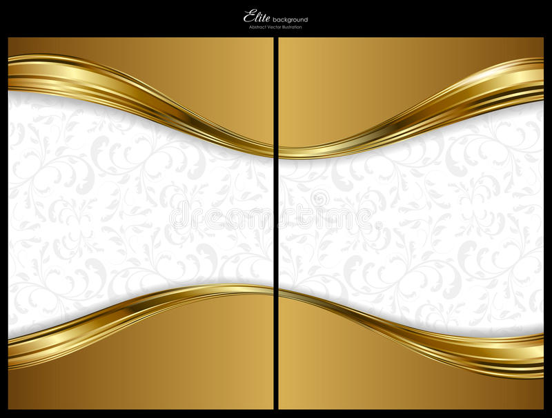 Gold abstract background, front and back royalty free illustration