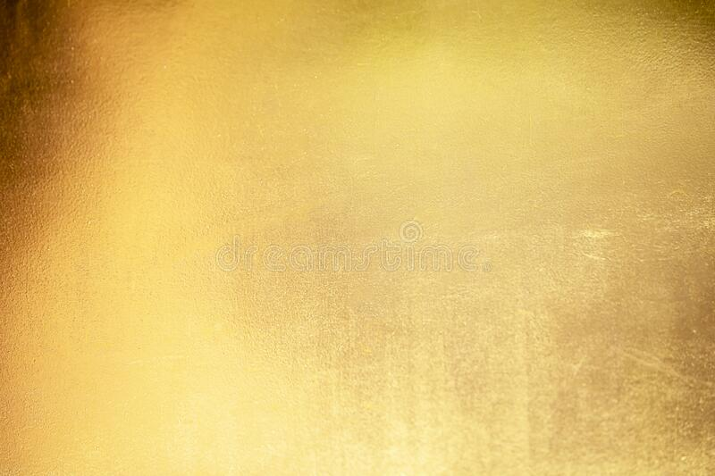 Gold abstract background or texture and gradients shadow.  stock images