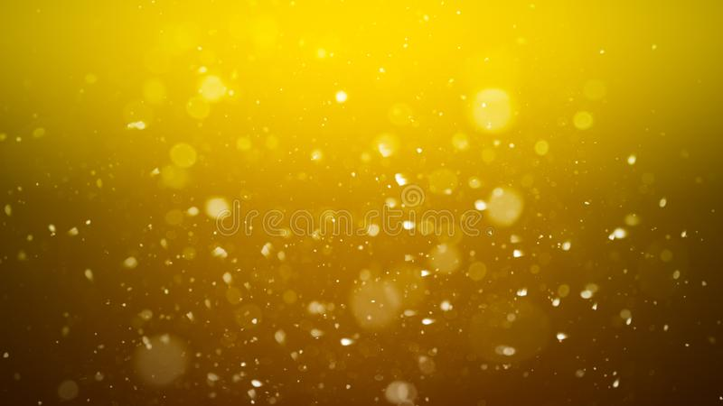 Gold abstract bokeh background. real dust particles with real lens flare stars. glitter lights stock photos