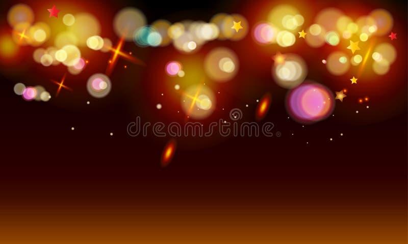 Bokeh lights wallpaper stock illustration