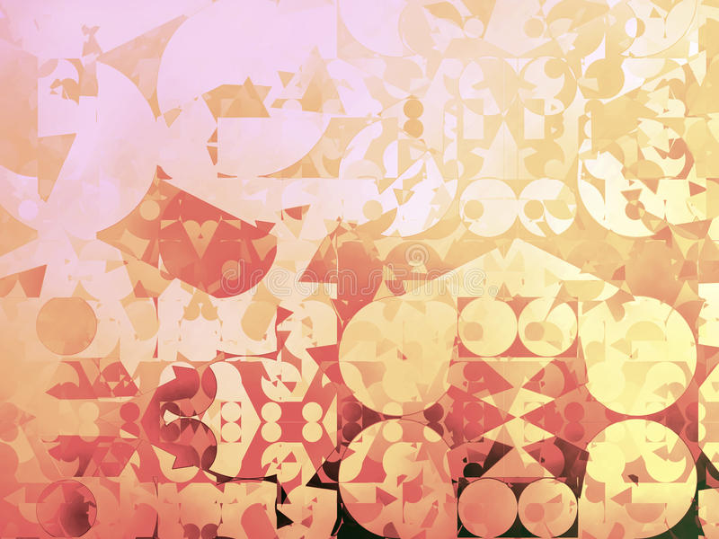 Gold Abstract Geometric Background Illustration. Color Gamut looked at and corrected vector illustration
