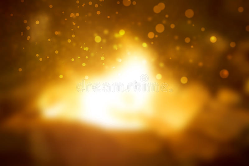 Gold abstract light background stock image