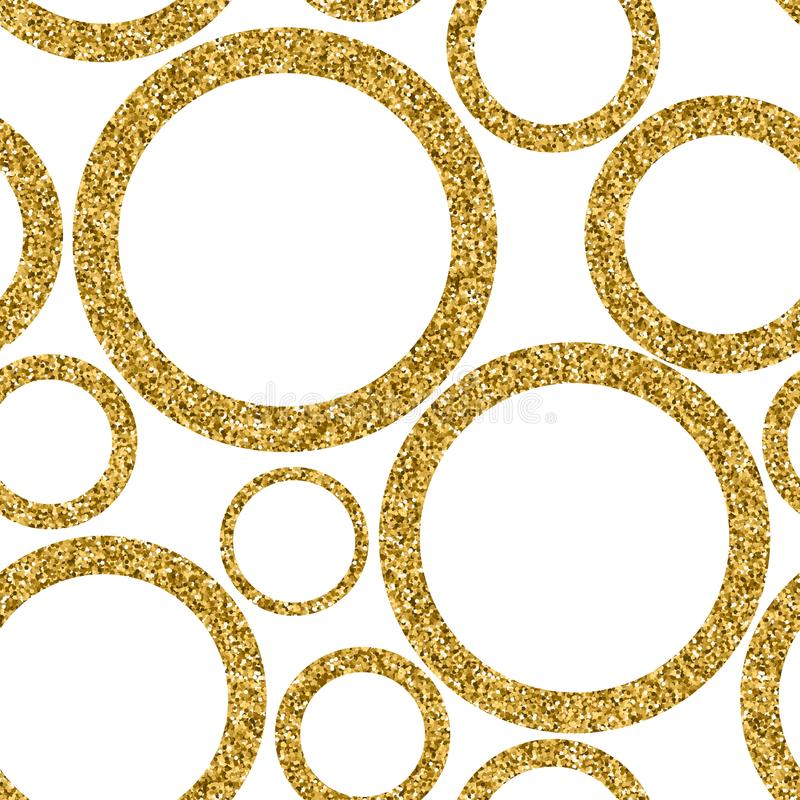 Gold abstract seamless pattern with dots. Vector stock illustration