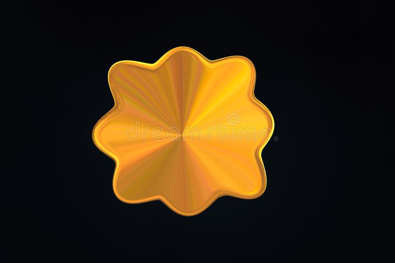 Gold abstract shell shape with lustre affect. stock photos