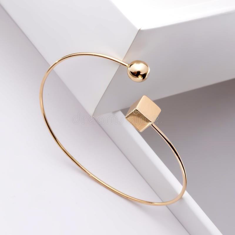 Gold accessories for beauty women royalty free stock images