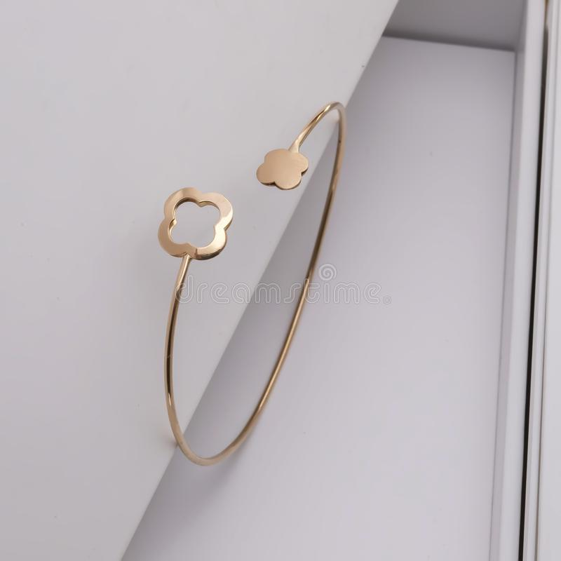Gold accessories for beauty women stock photo