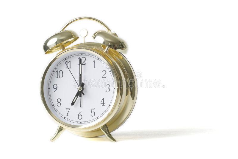 Download Gold Alarm Clock Stock Image - Image: 524141