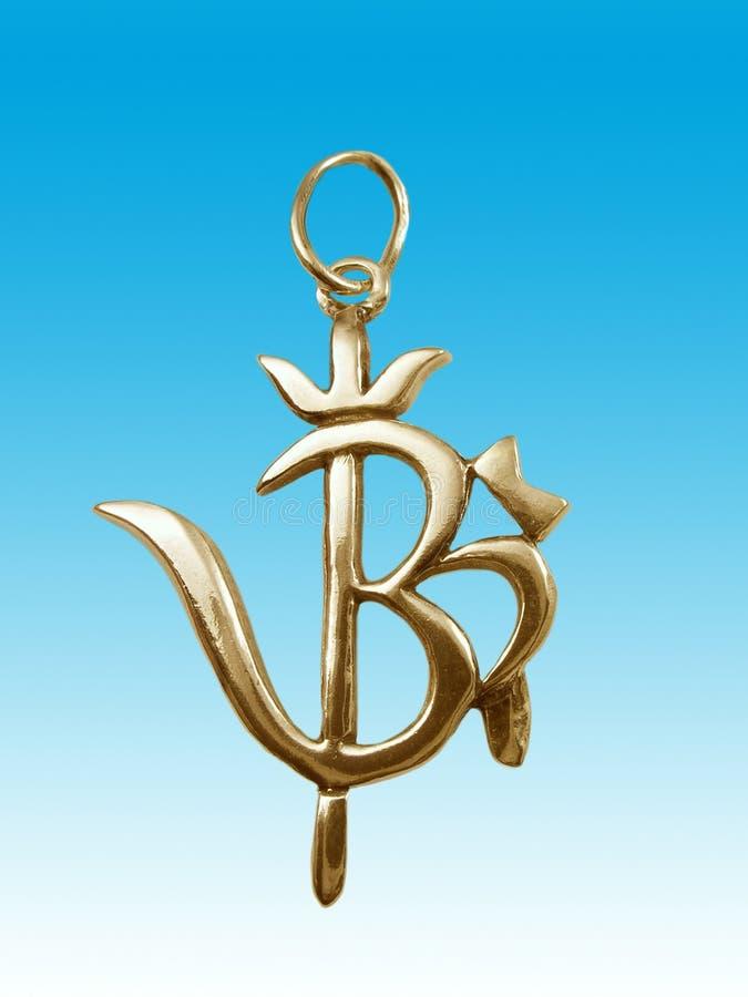 Gold amulet royalty free illustration