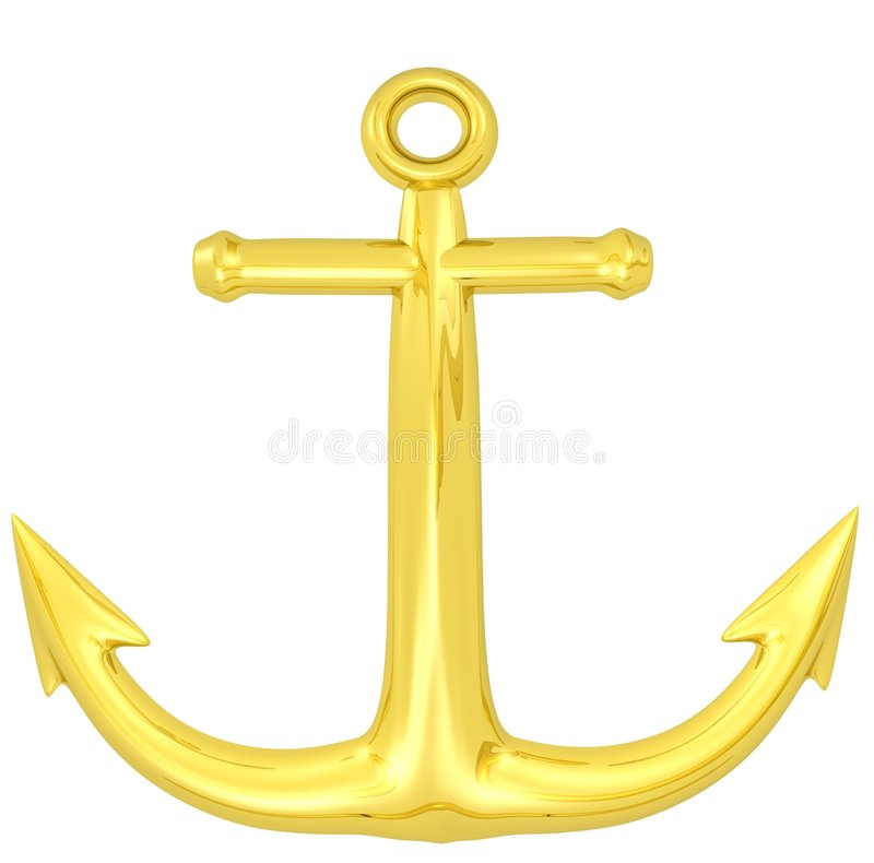 Download Gold Anchor Royalty Free Stock Images - Image: 7958799
