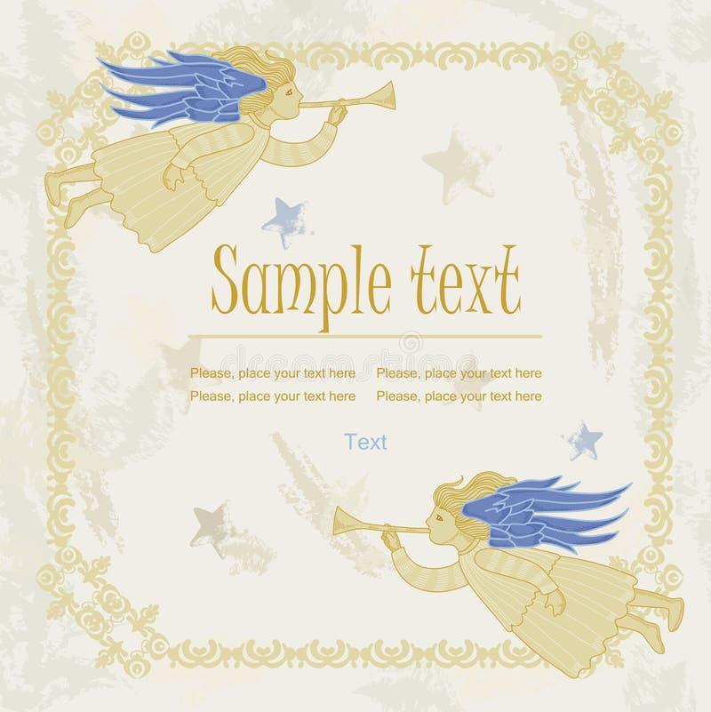 Gold angel royalty free illustration