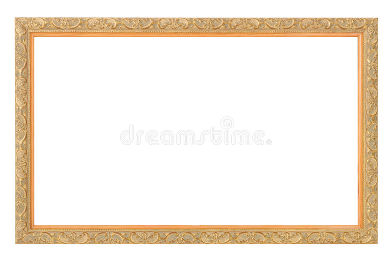 Gold antique frame stock photo