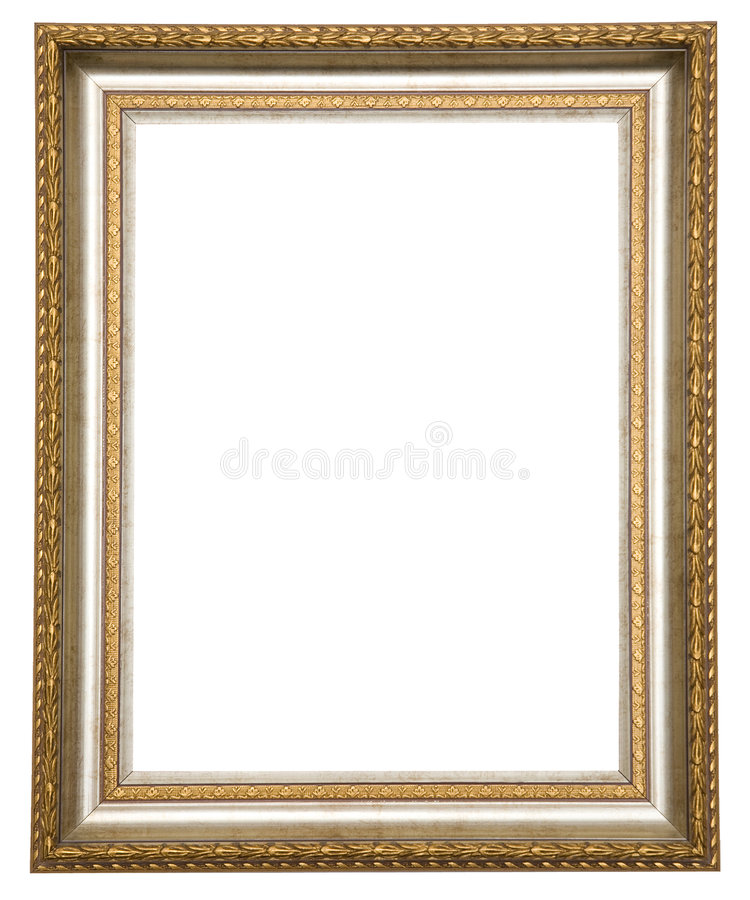 Gold antique frame royalty free stock photos