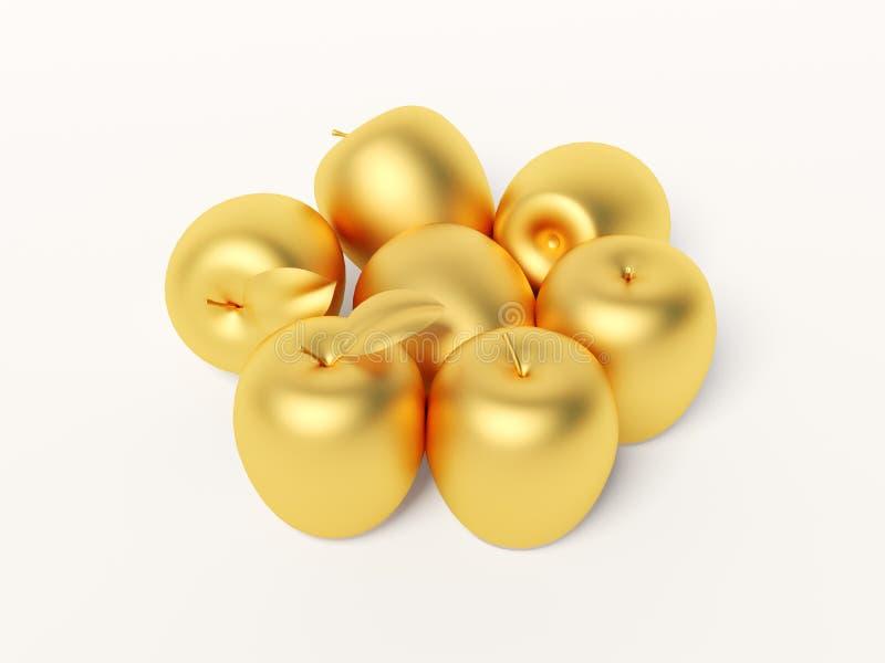Download Gold apple stock illustration. Illustration of gold, bright - 11194067