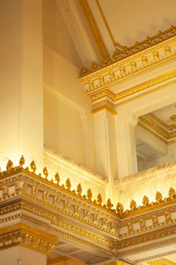 Gold architecture royalty free stock images