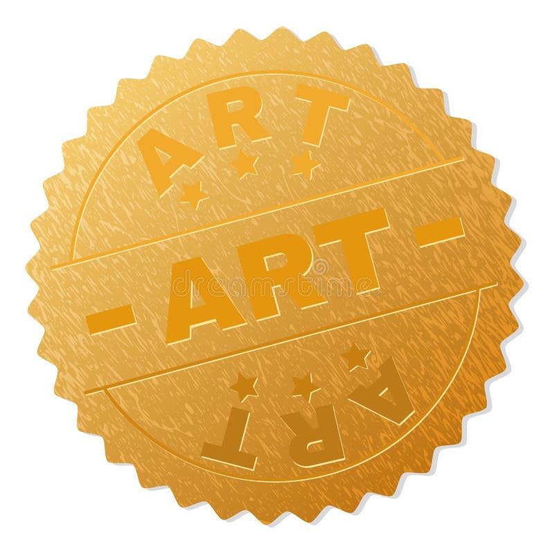 Gold ART Badge Stamp stock abbildung