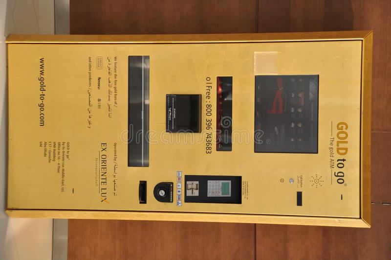 The Gold ATM Editorial Image