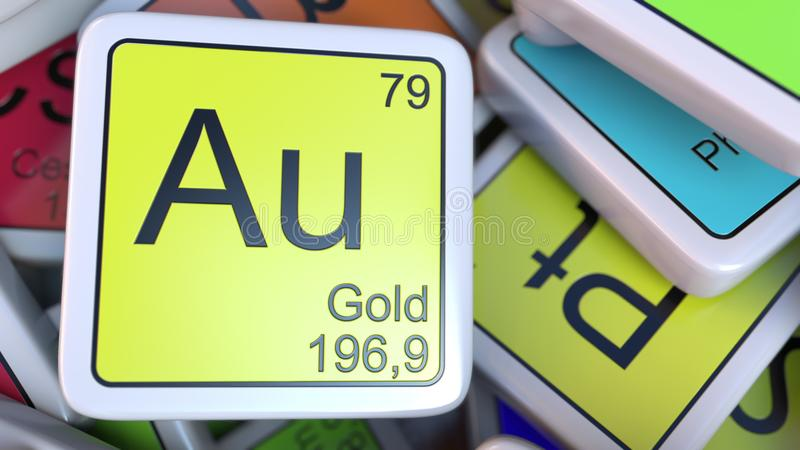 Gold au block on the pile of periodic table of the chemical elements download gold au block on the pile of periodic table of the chemical elements blocks urtaz Images