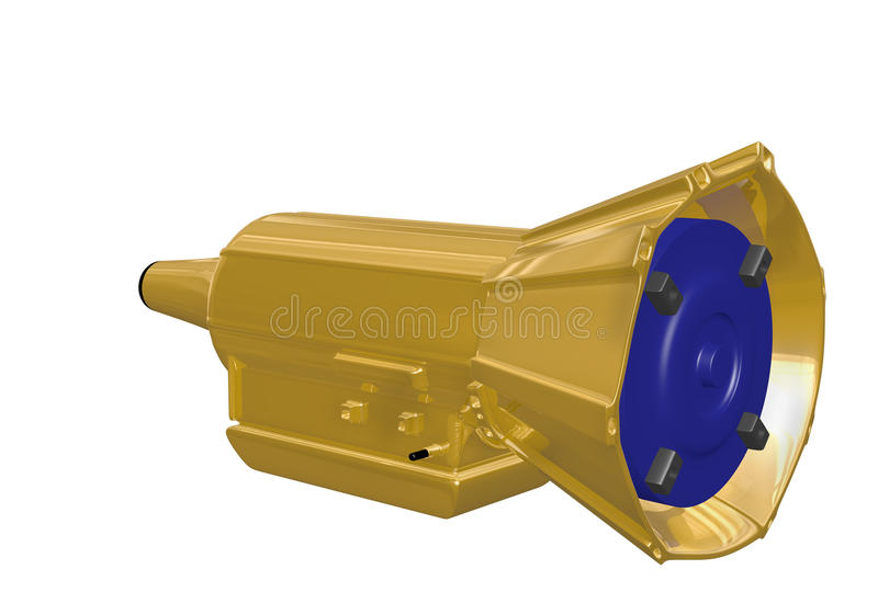Gold Auto Transmission Royalty Free Stock Photography