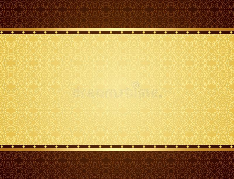 Gold background stock illustration