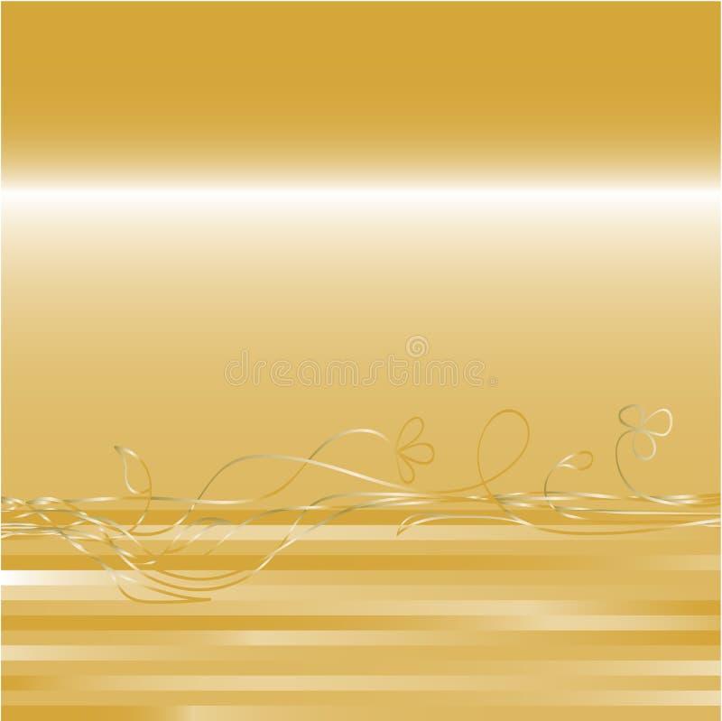 Gold background royalty free illustration