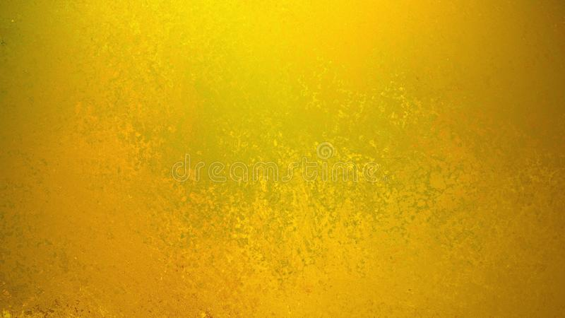 Gold background with faint grunge texture in old vintage design, yellow background royalty free illustration