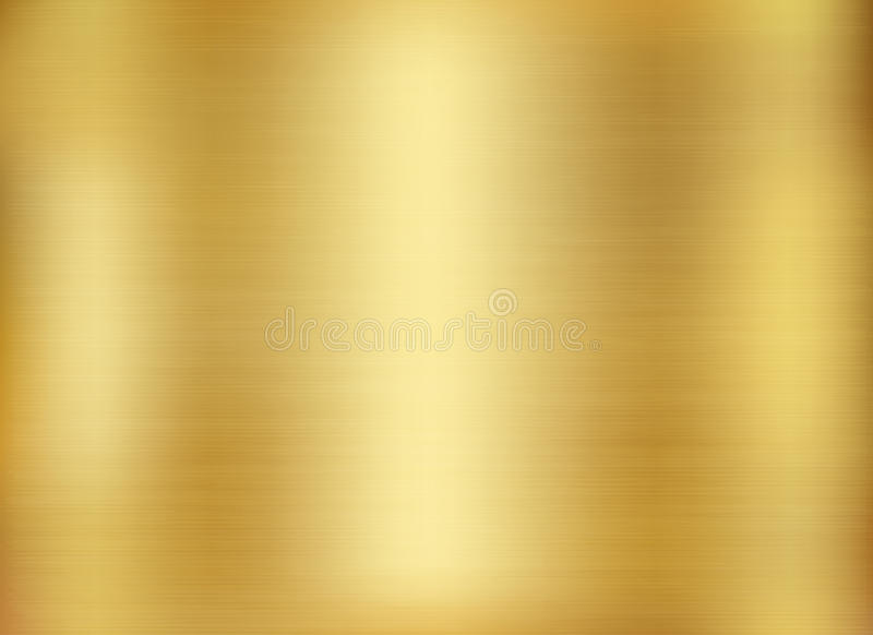 Gold background, gold polished metal, steel texture. Gold background, gold polished metal. Gold metal texture background vector illustration