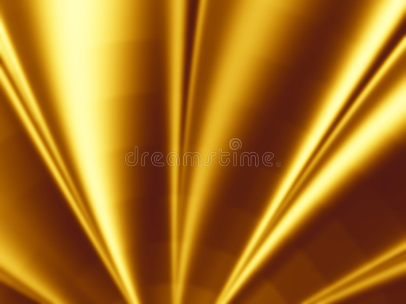 Gold Background with Light Effect stock images