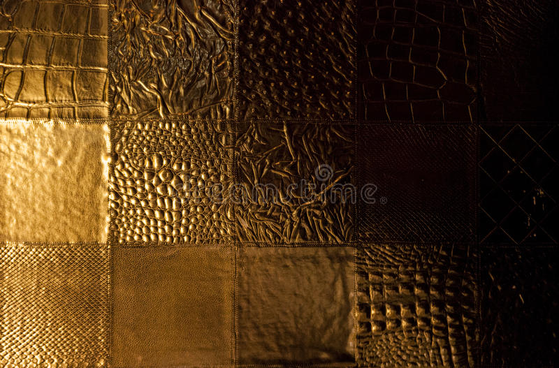 Gold background. Made of diferent styles of gold textures stock photo