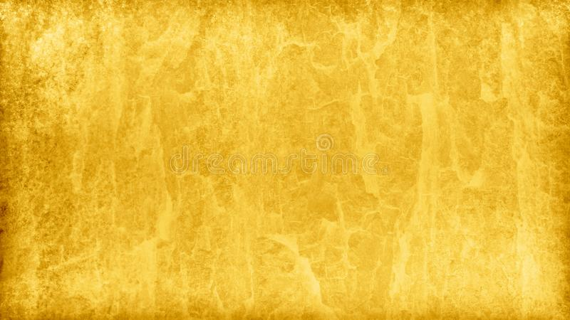 Gold background with marbled foil or painted metal texture design in a fancy luxury yellow pattern that is distresse. D and elegant royalty free illustration