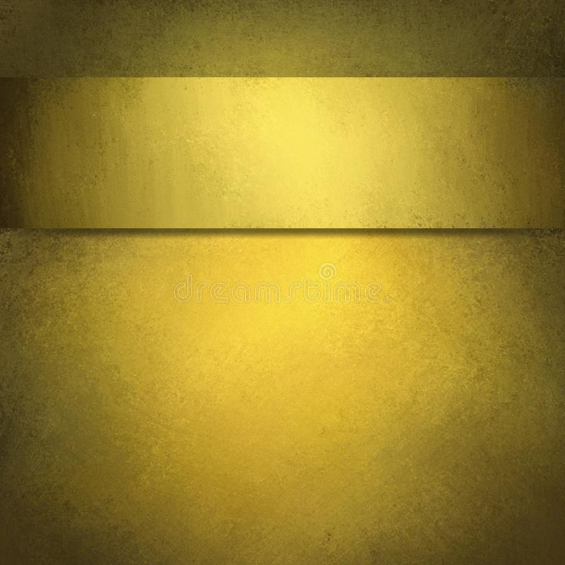 Gold background with ribbon royalty free stock photo