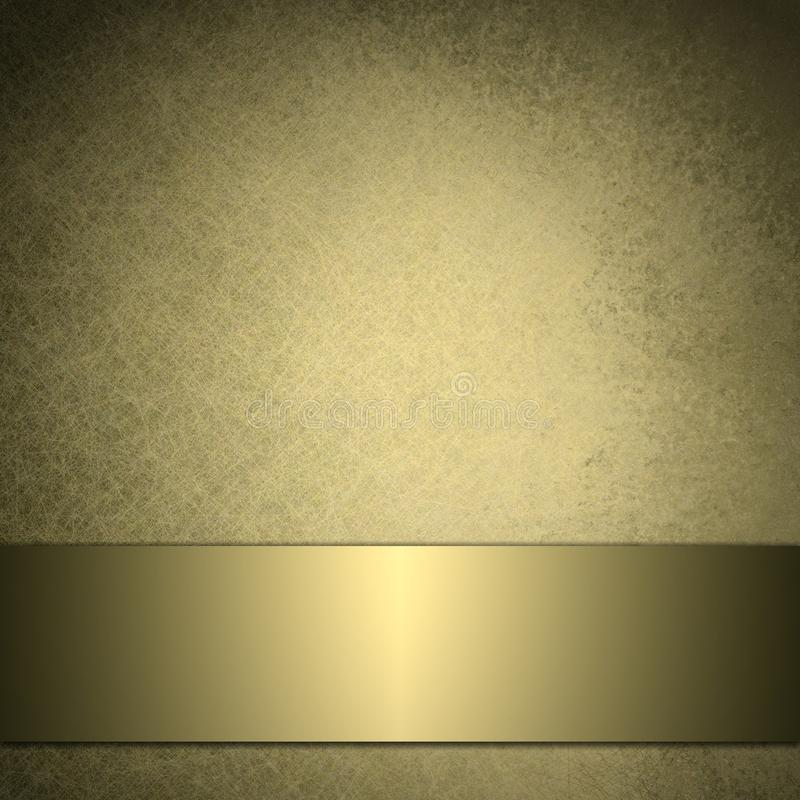 Gold background with shiny golden ribbon royalty free stock photos