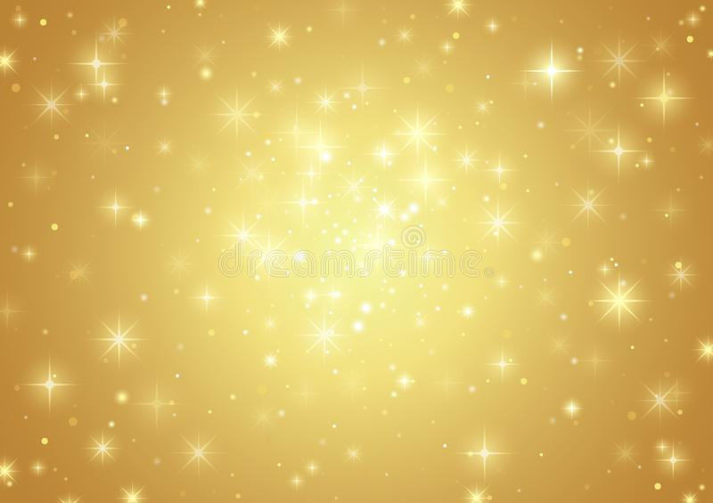 Gold Background With Stars vector illustration