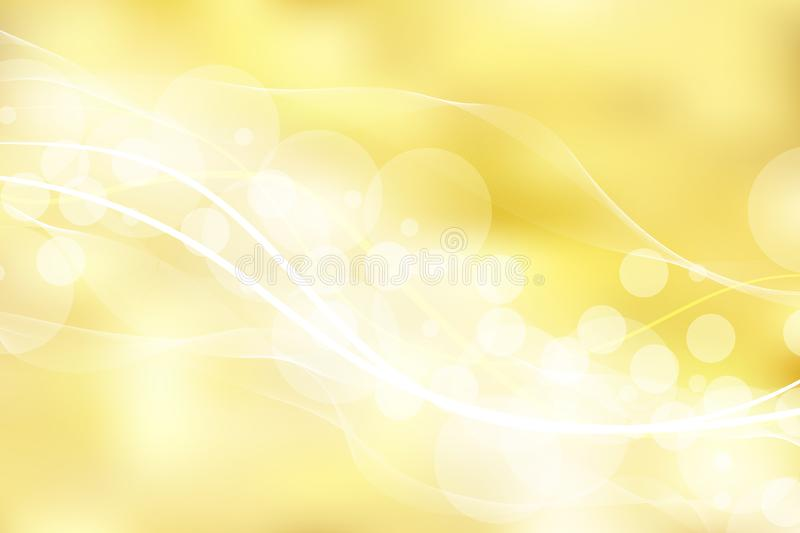 Gold background and texture with bokeh curve lines light. elegant, shiny, luxury, Golden gradient mesh. vector illustration