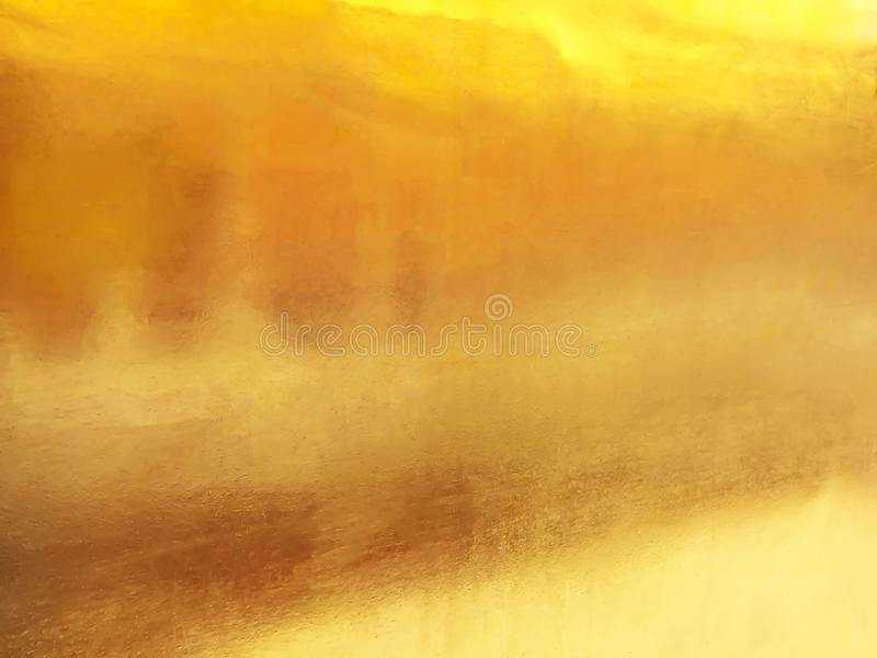 Gold background or texture and gradients shadow stock image
