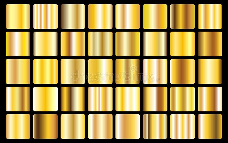 Gold background texture vector icon seamless pattern. Light, realistic, elegant, shiny, metallic and golden gradient illustration. vector illustration