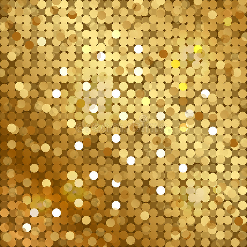 Free Gold Background With Sequins Royalty Free Stock Photography - 38461767