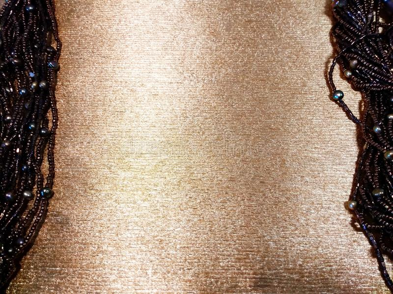Gold background with women accessories royalty free stock photos