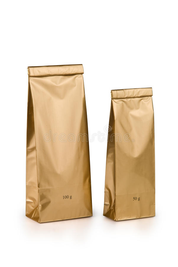 Download Gold bags stock image. Image of store, two, weithgt, label - 29285391