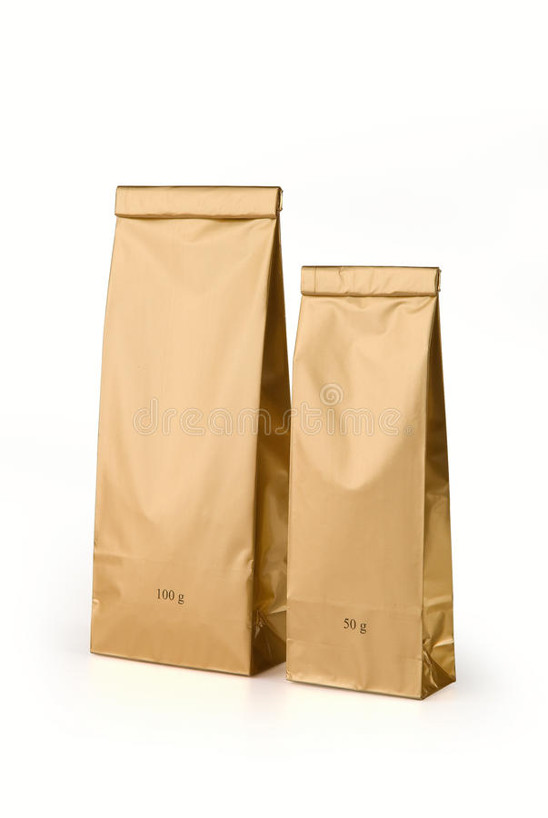 Download Gold bags stock image. Image of package, gold, pack, store - 29329055
