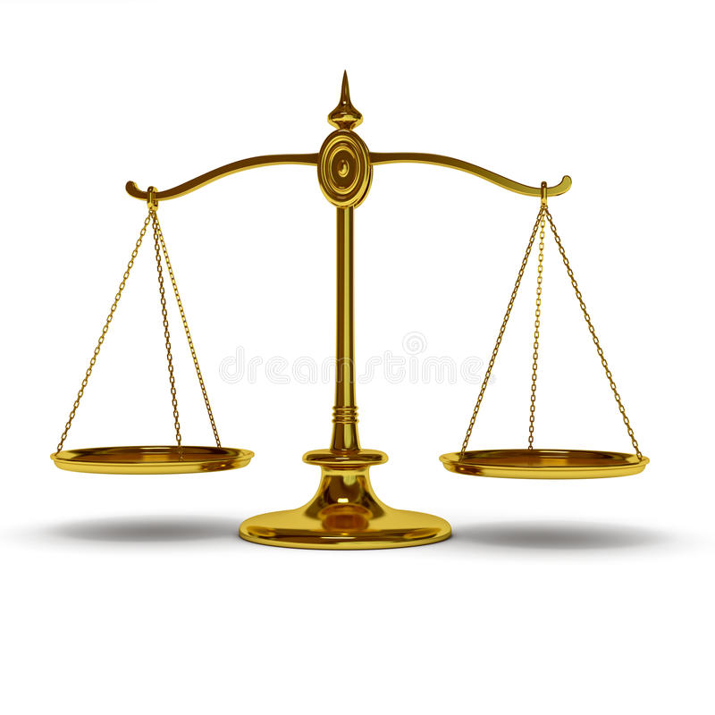 Gold balance vector illustration