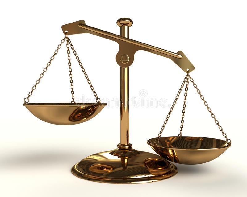 Gold Balance Royalty Free Stock Image
