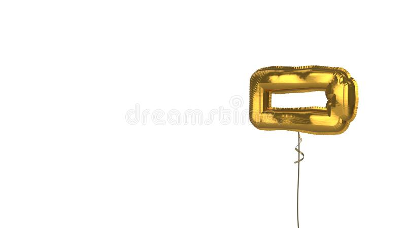 gold balloon horizontal symbol of battery empty on white background vector illustration