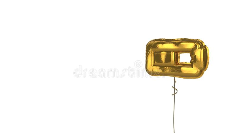 gold balloon horizontal symbol of battery half on white background stock illustration