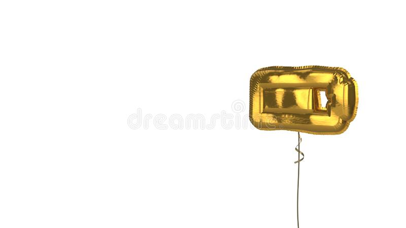 gold balloon horizontal symbol of battery three quarters on white background vector illustration